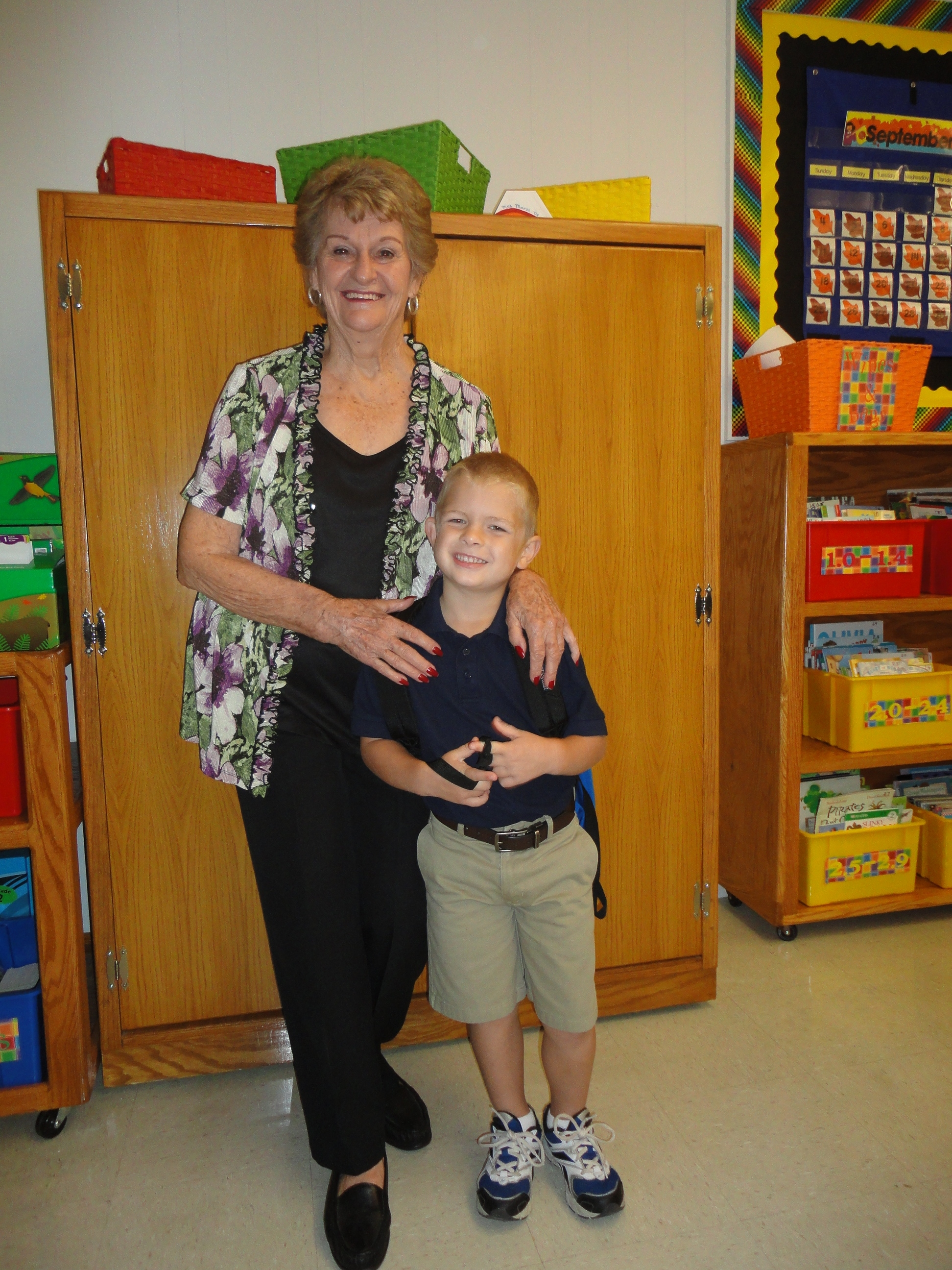 hagen & granny at grandparents day